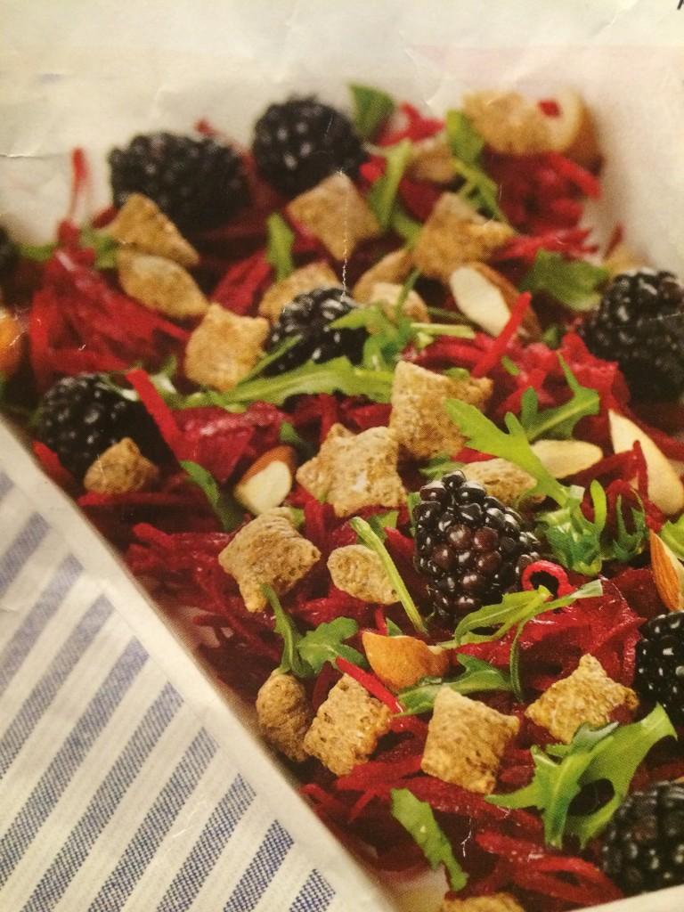 Fiber-salat med rødbede og sprød top
